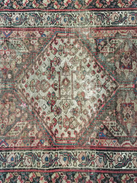3x11 Vintage Northwest Persian Wide Rug Runner - Old New House