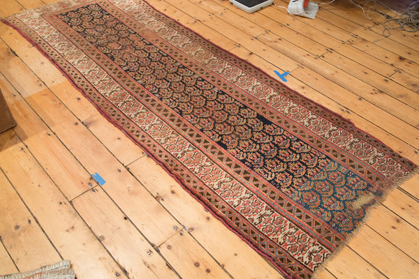 3x8.5 Antique Kurdish Persian Wide Rug Runner - Old New House
