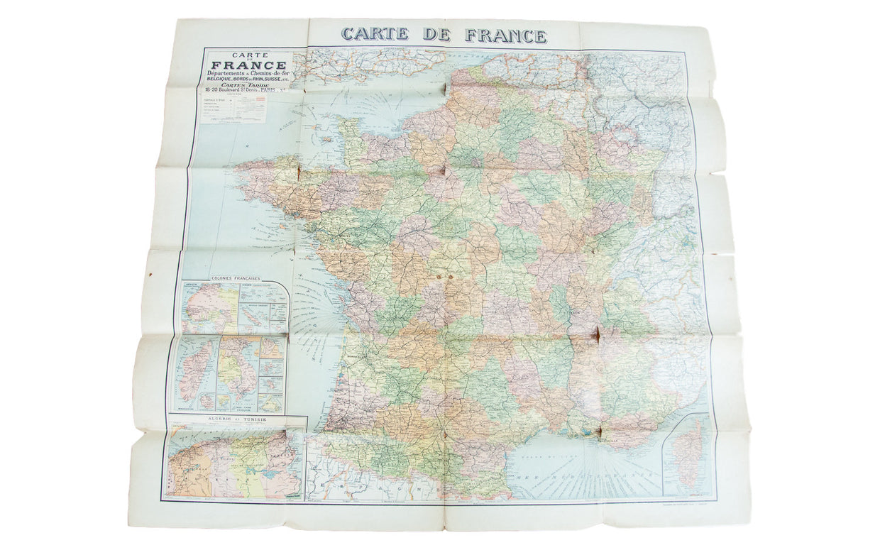 Antique Map of France - Old New House