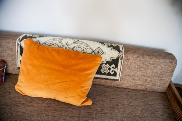 Antique Orange Caucasian Pillow - Old New House