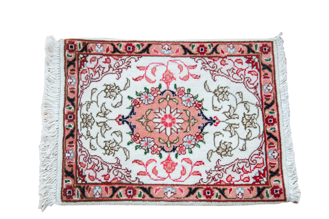 1x1.5 Vintage Persian Tabriz Mat - Old New House