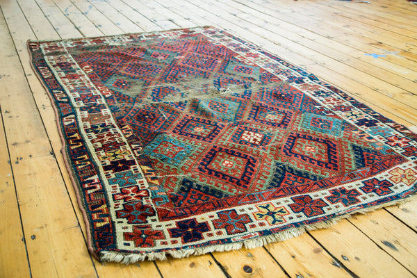 4.5x7 Antique Distressed Jaff Kurd Rug - Old New House