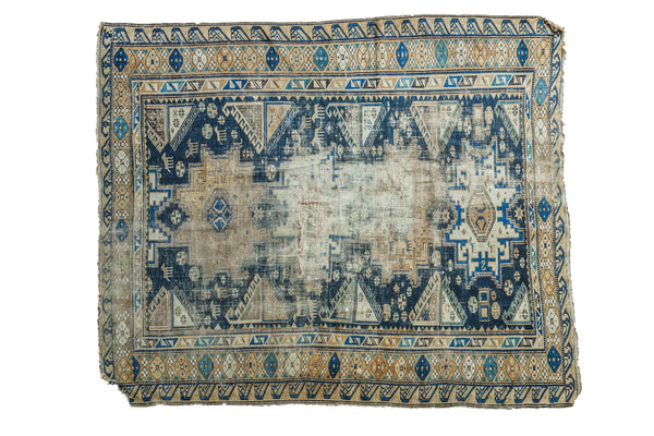 4x4.5 Antique Distressed Caucasian Rug - Old New House