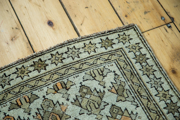 2x2.5 Antique Caucasian Square Rug Mat - Old New House