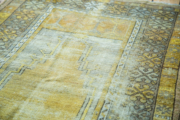 3x5 Vintage Turkish Gold Prayer Rug - Old New House
