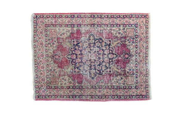 2x2.5 Antique Persian Kerman Rug Mat - Old New House