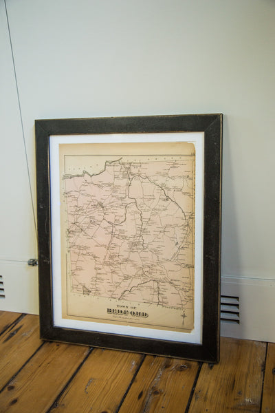 Antique Bedford New York Westchester Map - Old New House
