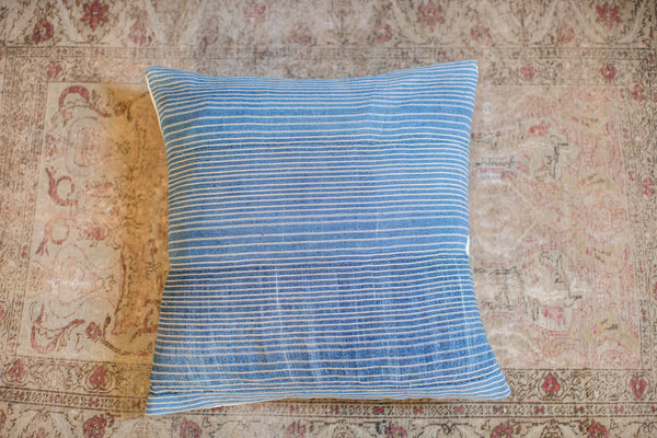 24x24 Large Handmade Indigo Pillow - Old New House