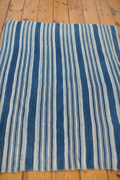 3x4.5 Indigo Blue Striped Textile - Old New House
