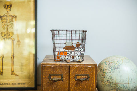Vintage Gym Locker Wire Basket Fred Medart
