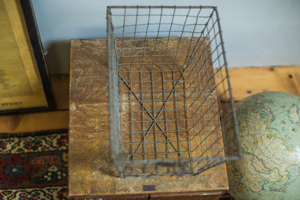 Vintage Fred Medart Gym Locker Wire Basket - Old New House