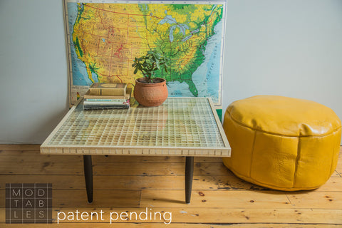 Handmade to Order Wooden Mod Square Table Limited Edition - Old New House