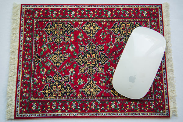Metropolitan Museum of Art Star Ushak Rug Mouse Pad - Old New House