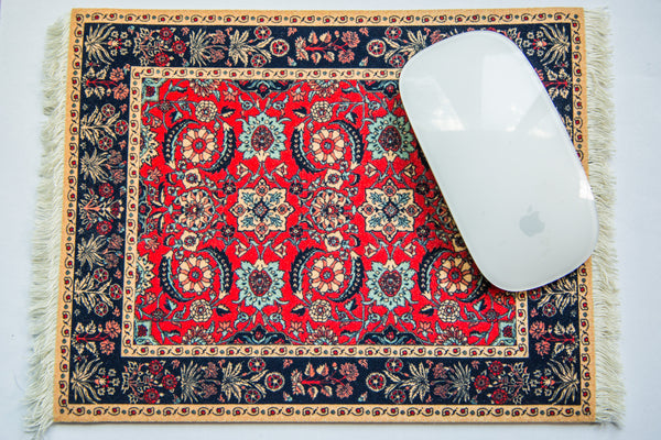 Pashmina Flowers Rug Made in USA Mouse Pad - Old New House