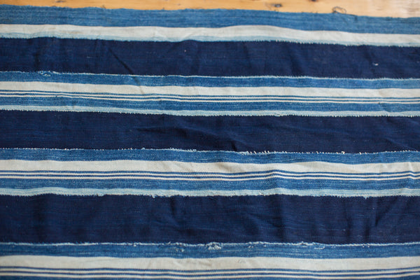 2x4 Indigo Blue Striped Textile Runner - Old New House