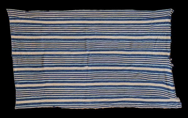 3x5 Indigo Blue Striped Textile - Old New House