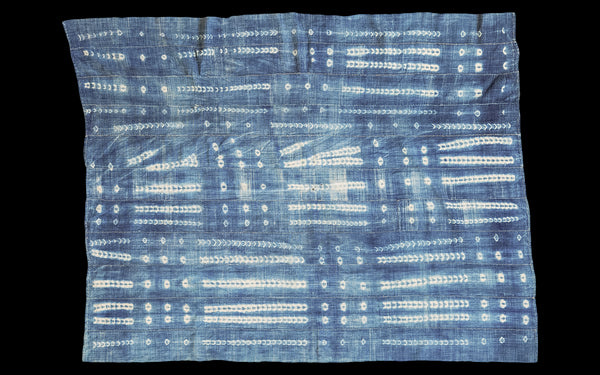 3.5x4 Square Batik Blue Textile - Old New House