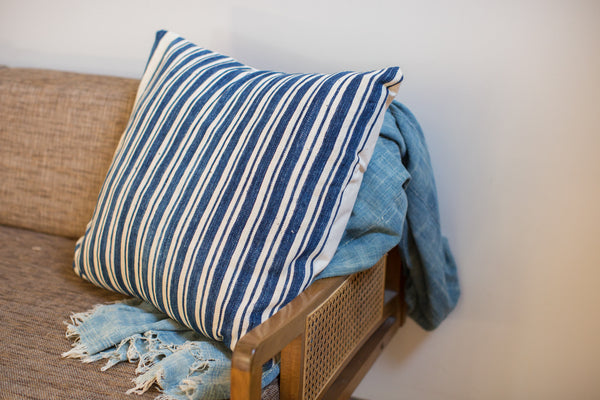 24x24 Oversize Indigo Blue Pillow - Old New House