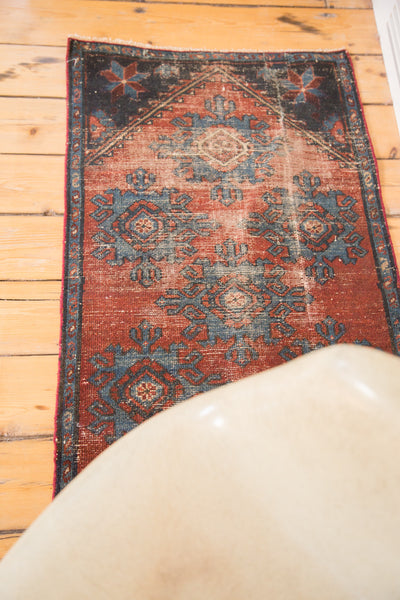 2x4 Antique Mehrevan Rug Fragment