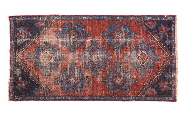 2x4 Antique Mehrevan Rug Fragment - Old New House