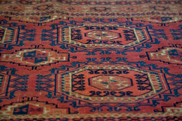 2.5x5 Antique Turkmen Tent Cover Rug - Old New House