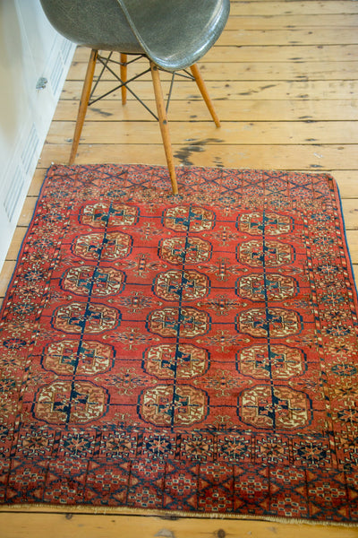 3x3.5 Antique Turkmen Square Rug - Old New House