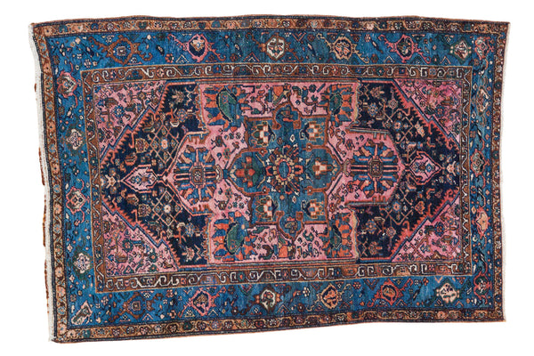 4x6 Vintage Fine Hamadan Rug - Old New House
