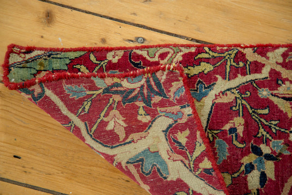 1x2 Antique Kerman Fragment Rug Mat - Old New House