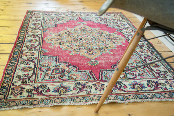3.5x4 Vintage Meshed Rug - Old New House
