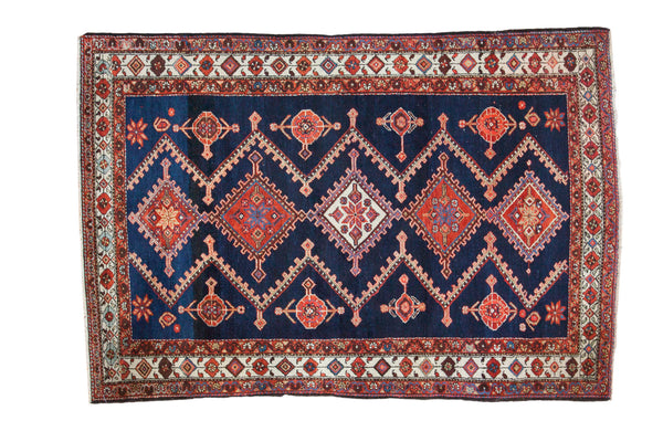 4.5x7 Vintage Persian Rug - Old New House