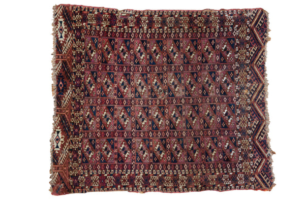 2.5x3 Antique Turkmen Square Rug - Old New House