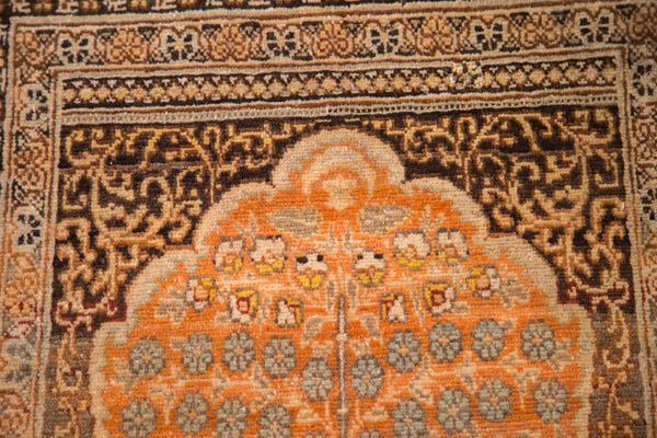 2x3 Antique Jalili Tabriz Prayer Rug Mat - Old New House