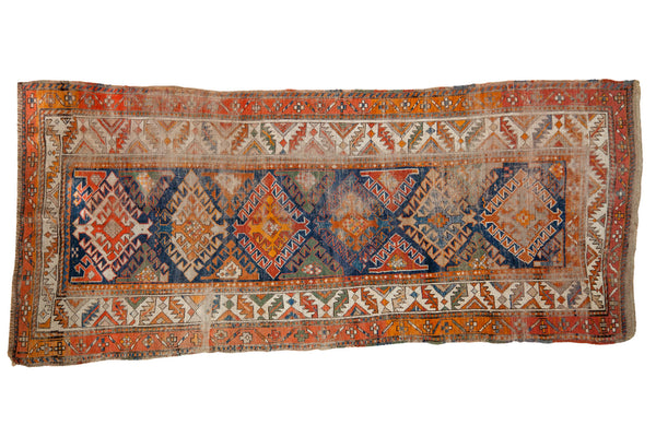 4x8 Funky Antique Caucasian Rug Runner - Old New House