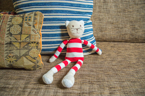 Natural Kids Toy Cat in Stripes - Old New House