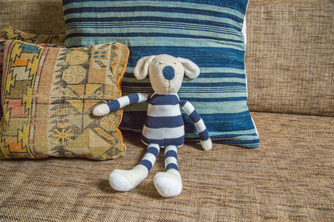 Natural Kids Toy Dog in Stripes - Old New House