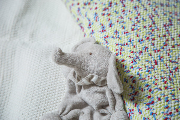 Organic Cotton Stuffed Animal Baby Elephant - Old New House