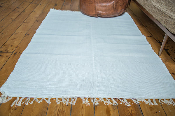 4x6 New Organic Cotton White Rag Rug