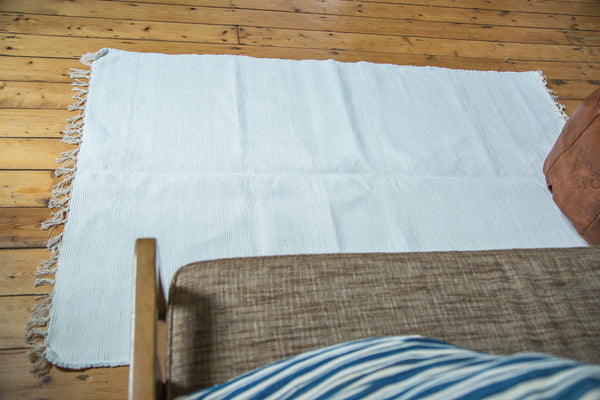4x6 New Organic Cotton White Rag Rug - Old New House