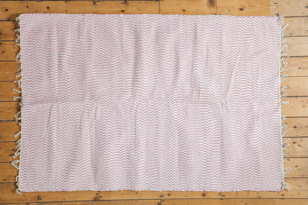 4x6 New Organic Cotton Pink Rag Rug - Old New House