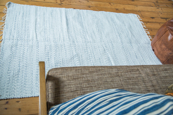 4x6 New Organic Cotton Minimalistic Rag Rug - Old New House