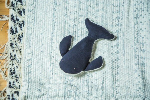 Organic Cotton Stuffed Animal Humpback Whale - Old New House