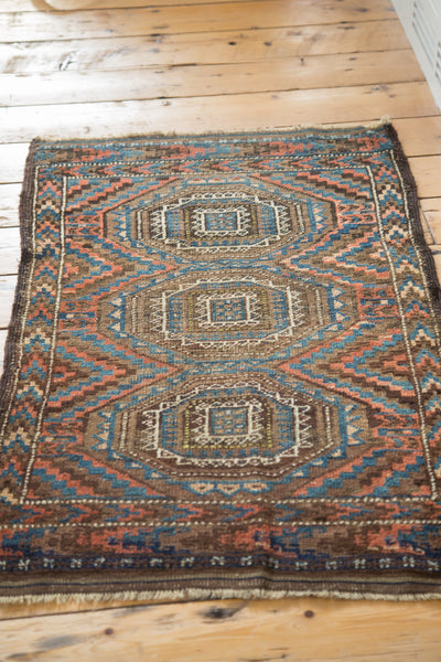 2x3.5 Antique Beshir Rug - Old New House