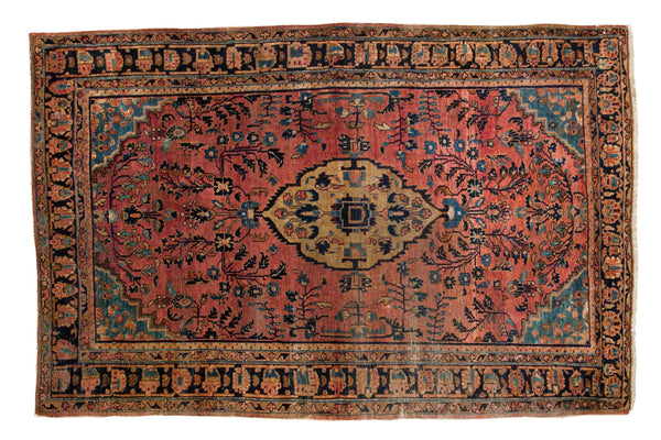 4.5x7 Vintage Sarouk Rug - Old New House