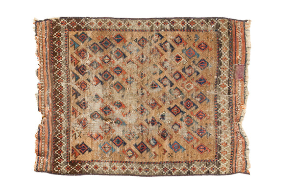 2.5x3 Antique Belouch Rug Mat - Old New House