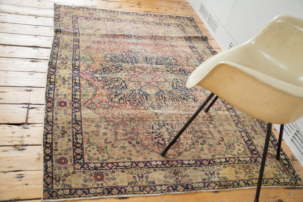 4x6 Antique Kerman Rug - Old New House