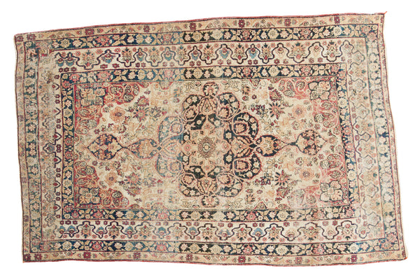 4x6.5 Antique Kerman Rug - Old New House