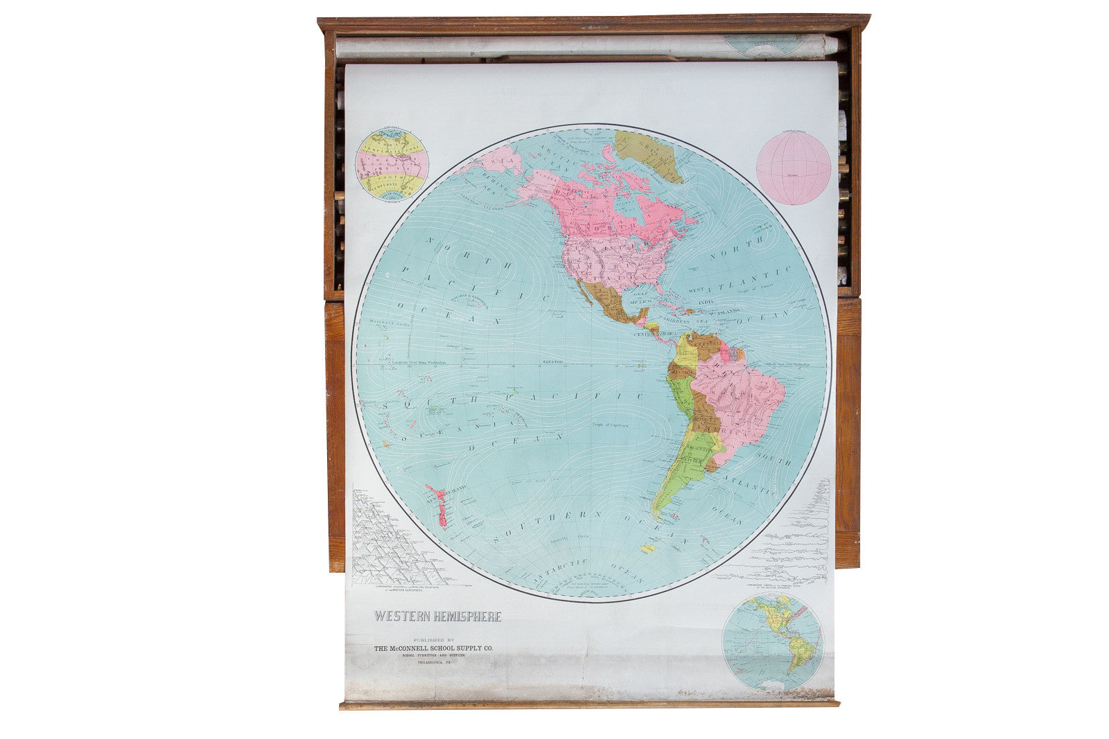 ... World Map Western Hemisphere. Previous Image Next Image. Sold
