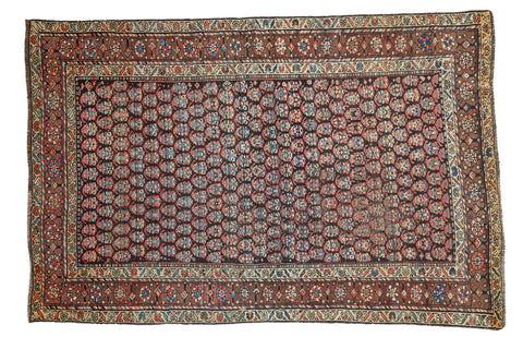 "4'2"" x 6'2"" Antique Boteh Kurdish Rug / Item 2208 image 1"