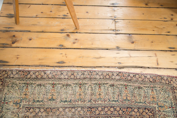 4x7 Antique Distressed Lavar Kerman Rug - Old New House