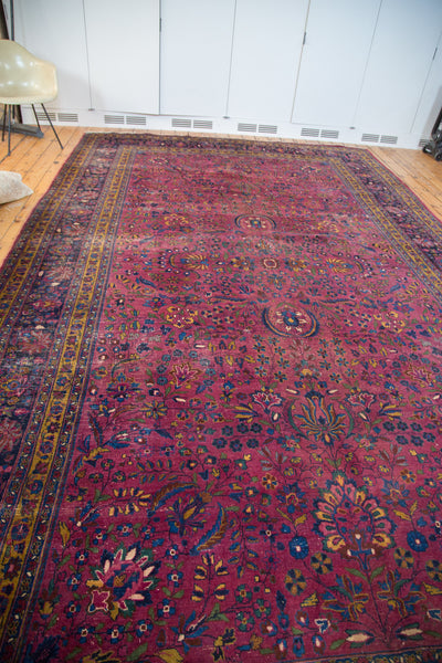9.5x16 Vintage Meshed Carpet - Old New House